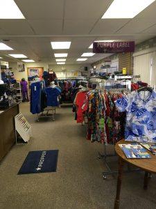 inside KC Uniforms shop