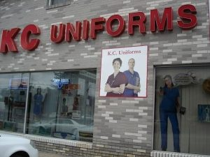 KC Uniforms storefront