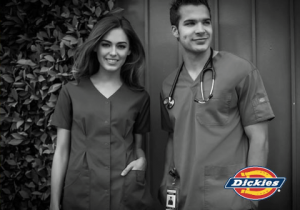 nurses wearing Dickies scrubs