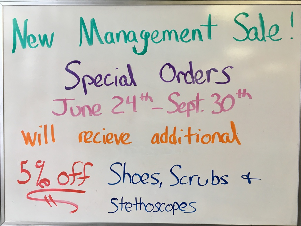 New Management Sale 5% off